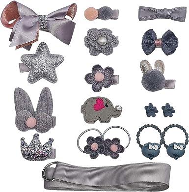 New Children/'s Jewelry Halloween Ribbed Ribbon Bow Hair Clips Girls/' Headwear.