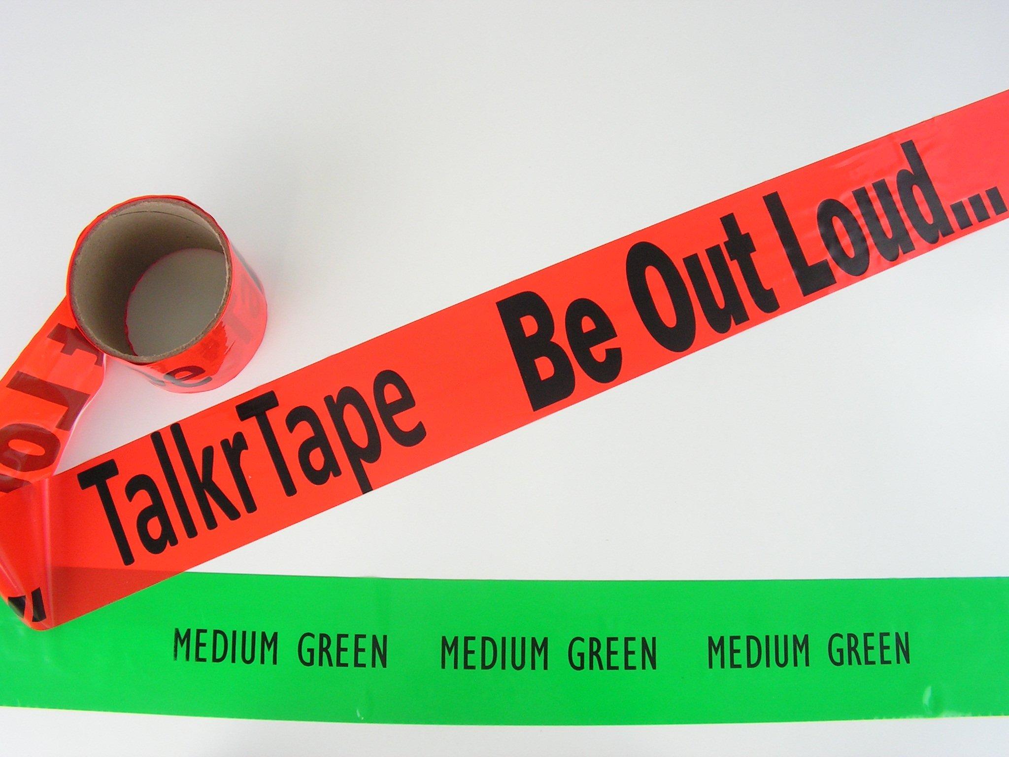 Custom Caution Tape Medium Green Custom Barricade Tape 100' Roll, Made in USA