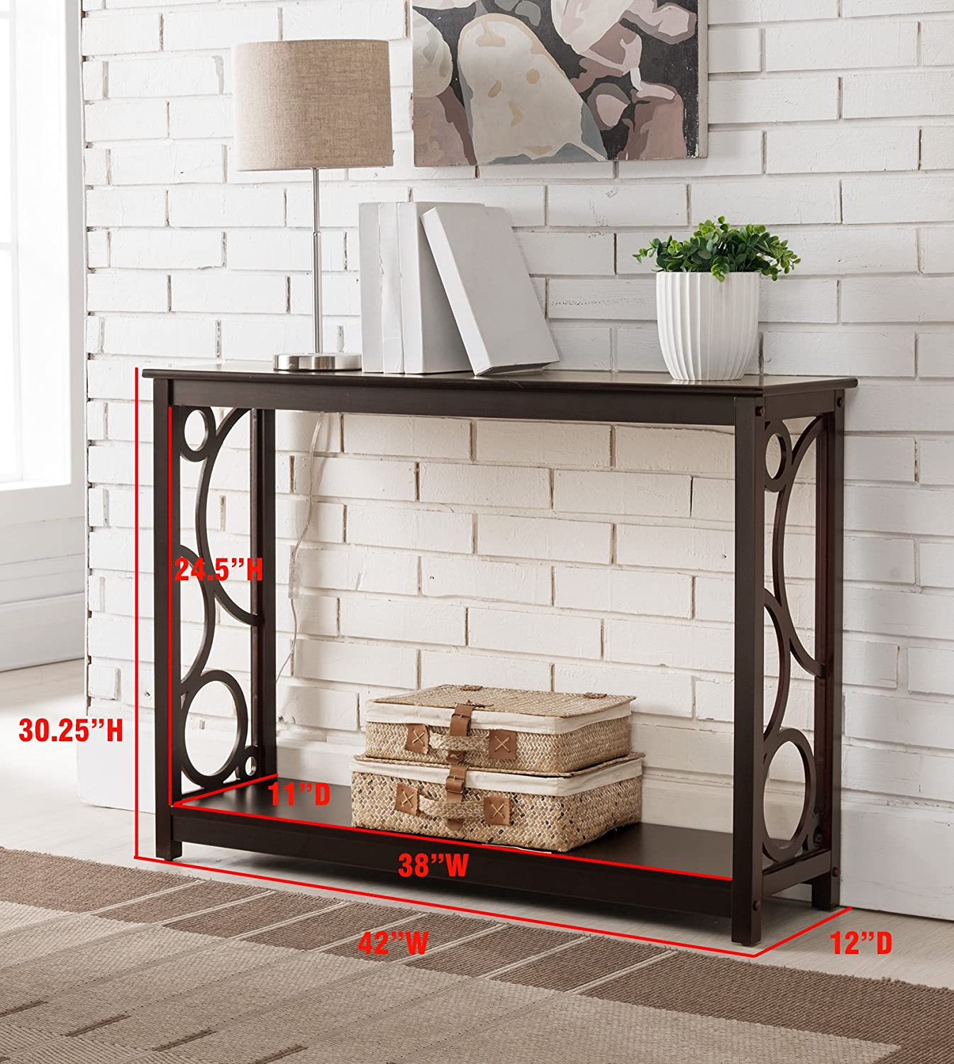 Amazon Kings Brand Furniture Cherry Finish Wood Entryway
