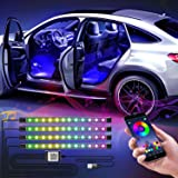 WILLED Interior Car Lights, Multi DIY Color LED Strip Light Kits with Bluetooth App Controlled, 5V USB Port and Music Sync, L