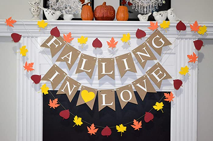 falling in love banner fall in love banner fall in love bridal shower