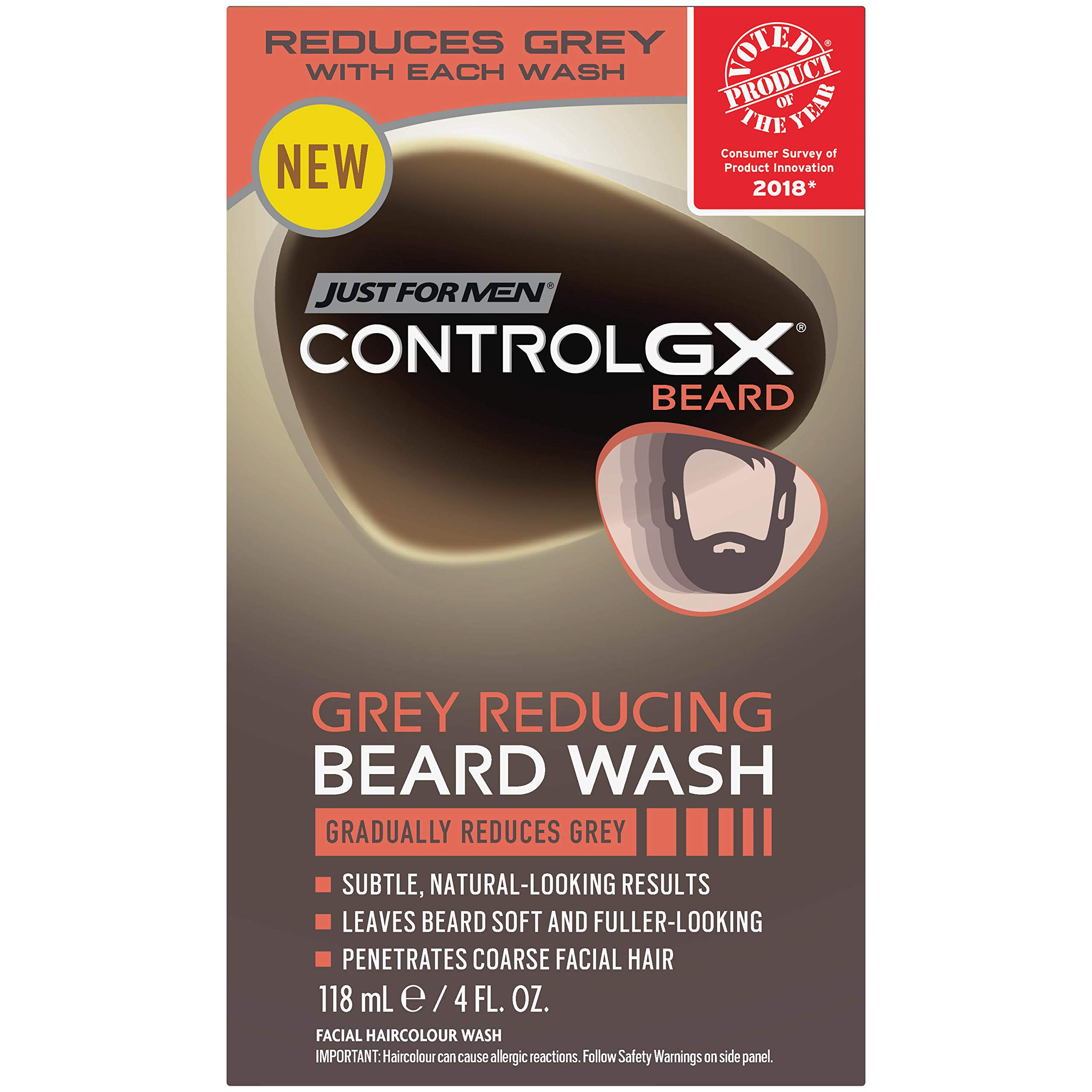 Just For Men Control Gx Grey Reducing Beard Shampoo for Mustache   Beard 674e95f52b00