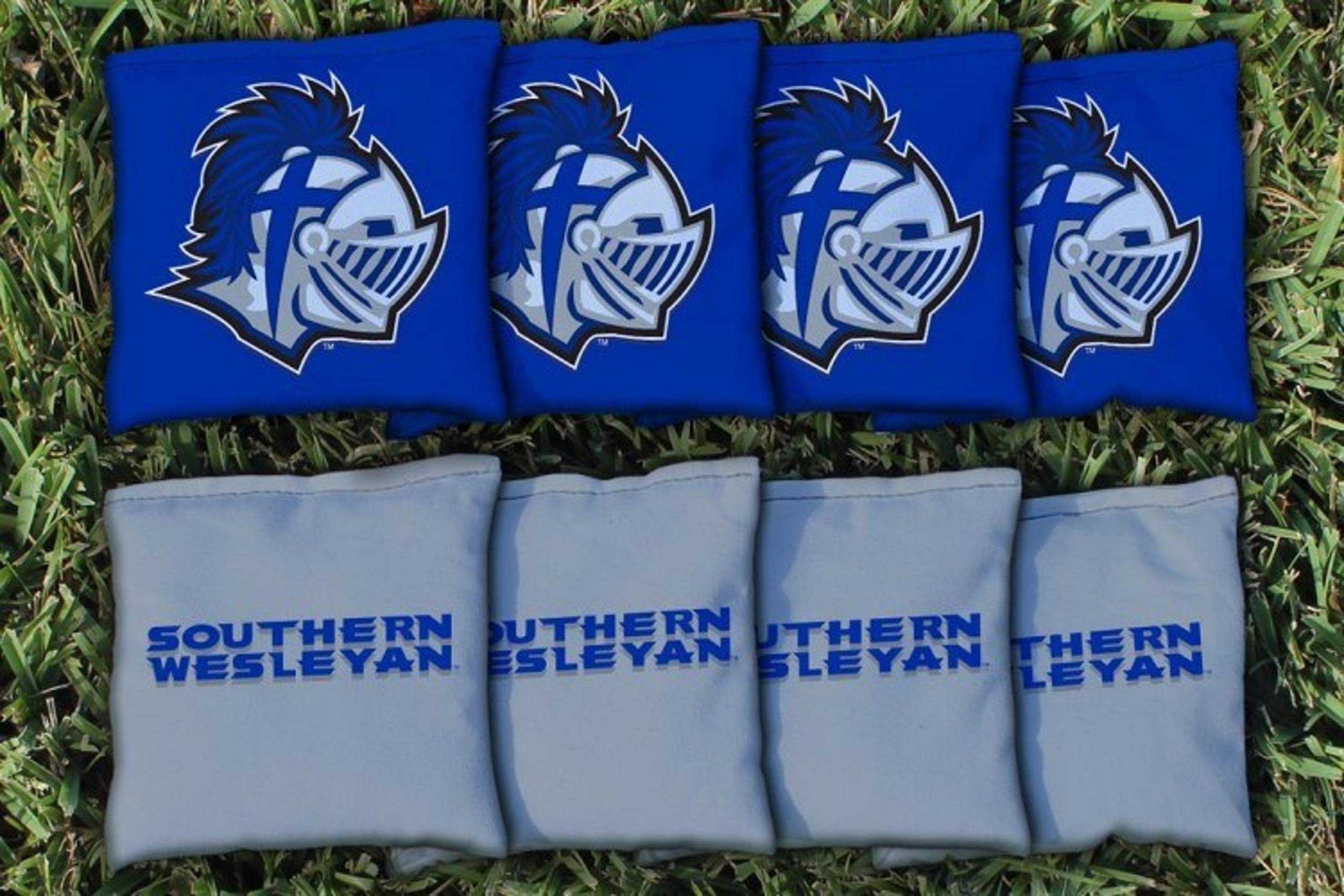Victory Tailgate NCAA Collegiate Regulation Cornhole Game Bag Set (8 Bags Included, Corn-Filled) - Southern Wesleyan Warriors by Victory Tailgate