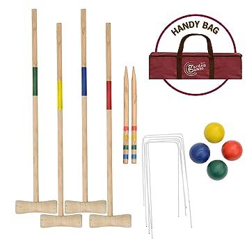 Juego de Croquet de Madera para Juegos de jardín: Amazon.es ...