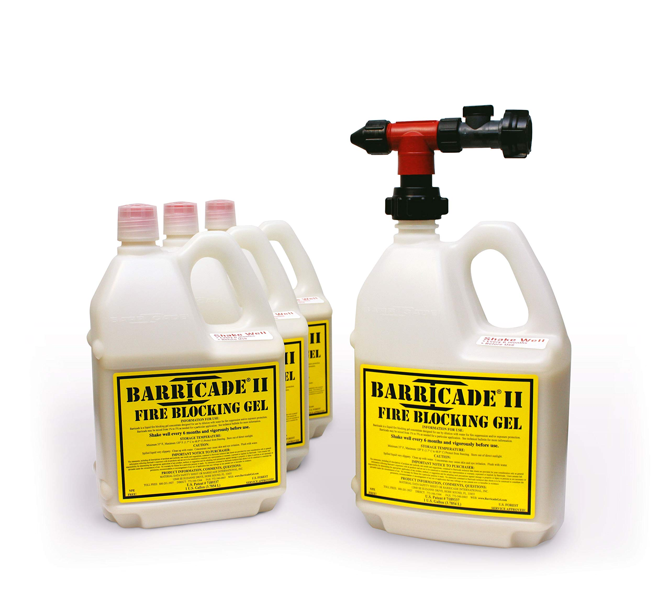 Barricade Fire Gel - Thermal-Protective Coating Provides Dead-Stop Fire Protection on Everything It Coats (Full Kit) by Barricade