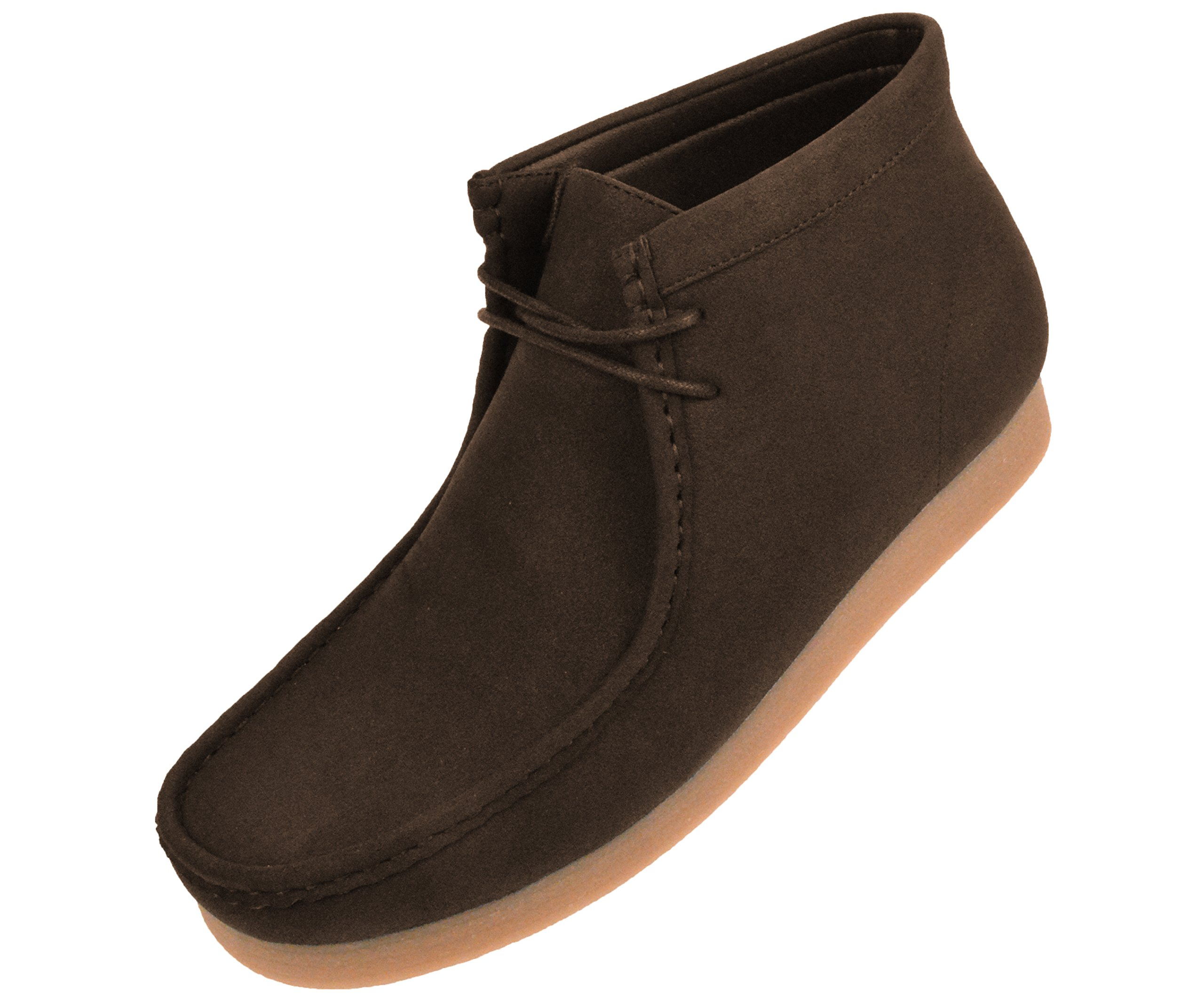 Amali Men's Faux Suede/Leather High and Low Top Lace-up Casual Boots with Crepe Rubber Like Sole