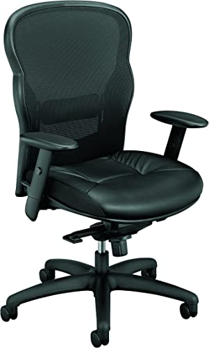 HON basyx VL701SB11 High-Back Swivel/Tilt Work Chair Mesh/Leather