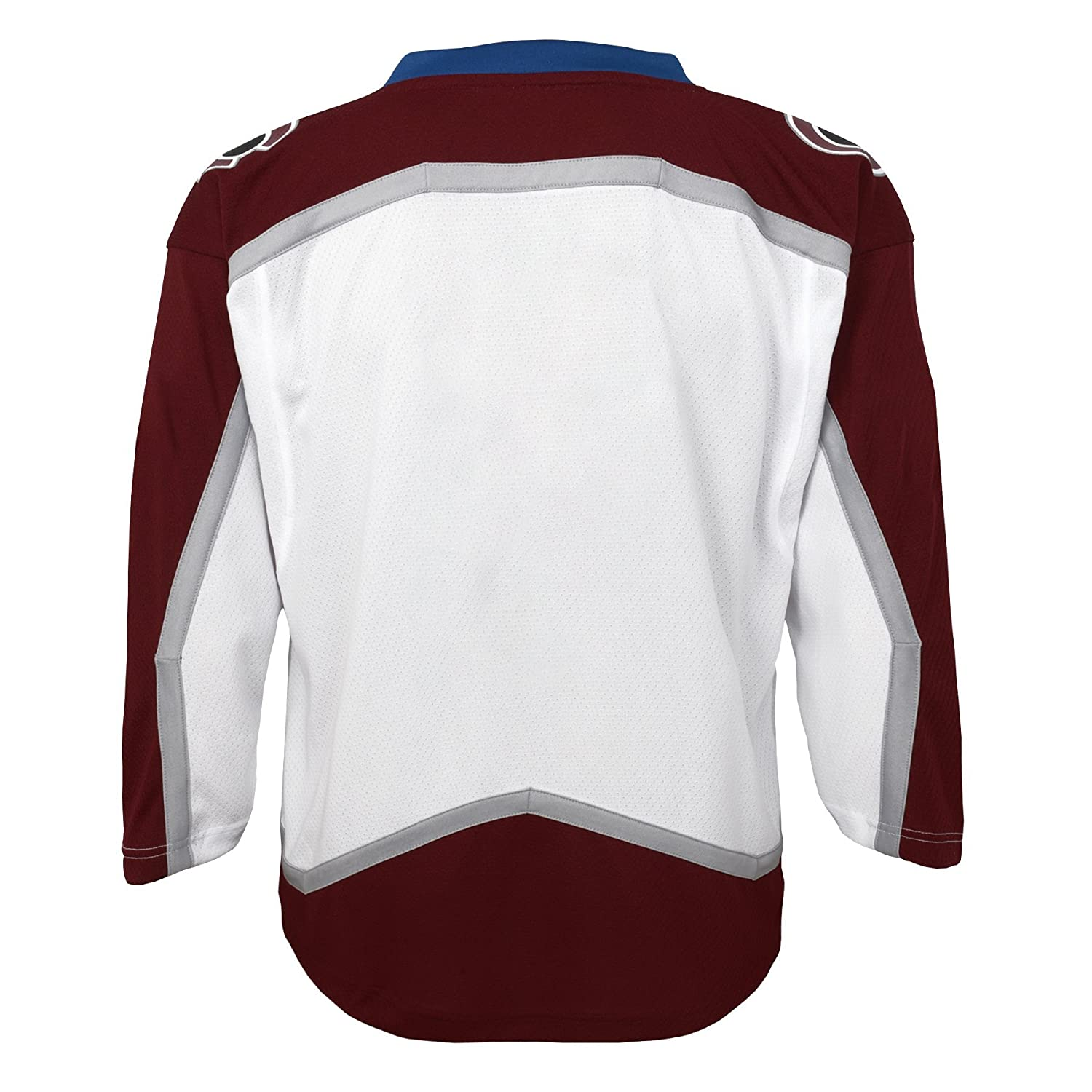 Youth Small//Medium White NHL Colorado Avalanche Youth Outerstuff Replica Jersey-Away 6-10