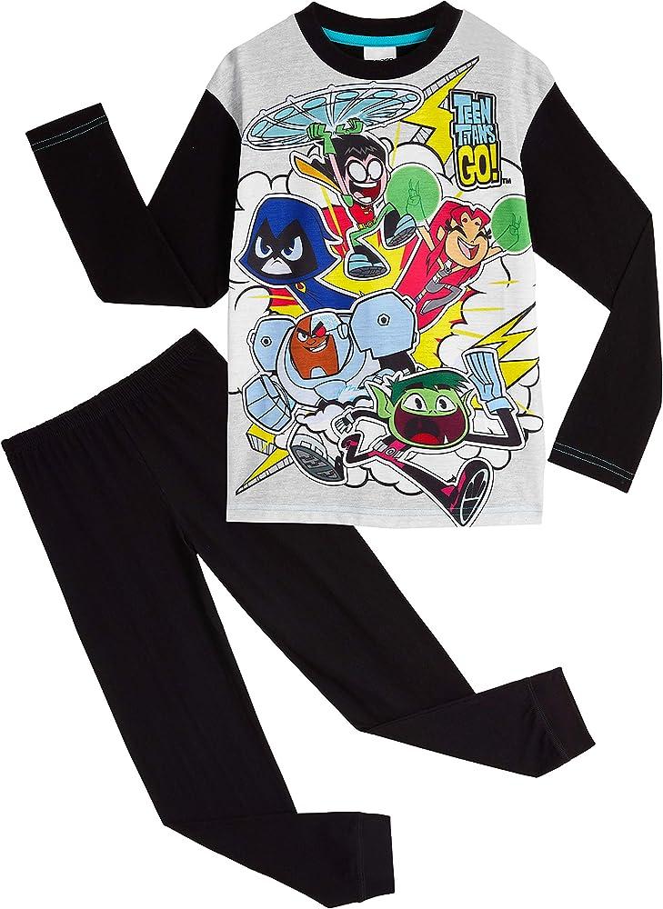 Teen Titans Go! Pijama Niño, Ropa Niño de Superheroes, Pijamas Niños de Dos Piezas Camiseta Manga Larga y Pantalon, Regalos para Niños y Niñas 4-12 Años (4-5 Años): Amazon.es: Ropa y accesorios