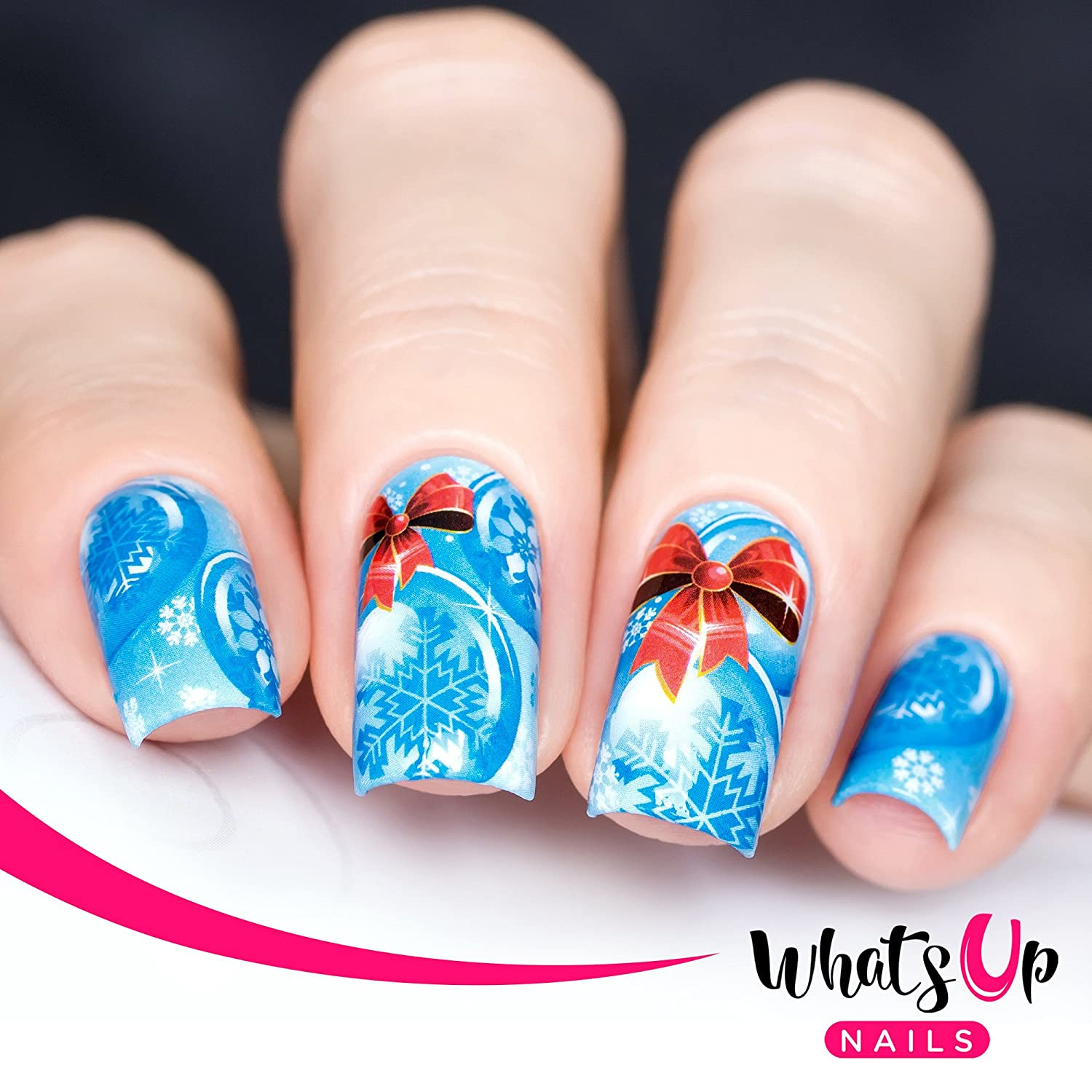 Amazon Com Whats Up Nails P048 Chillin Snowflakes Water Decals