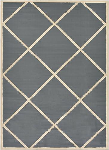 SoHome Conur Collection Trellis Area Rug Rugs Geometric Modern Contemporary Area Rug Rugs Lattice Design 2 Color Options Grey
