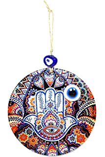 Nazar Boncuk Evil Eye Blaues Auge Fatimas Hand Hamsa Remi Bijou Wanddeko Wandschmuck Deko f/ür Zuhause Gl/ücksbringer