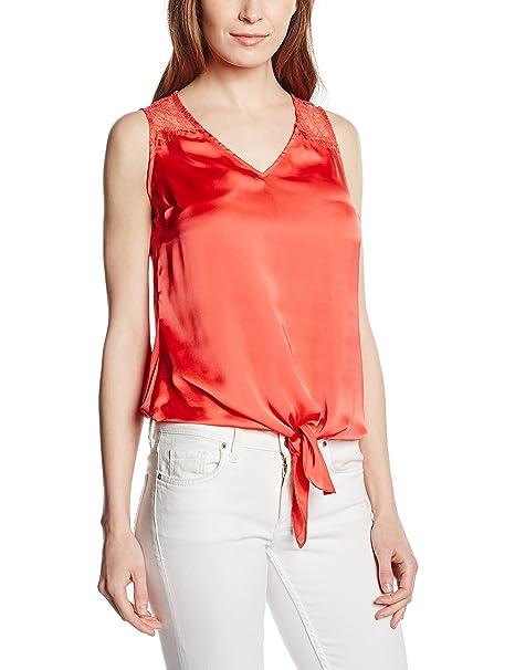 Naf Naf HEDINA-P SM - Blusa para mujer, color rojo (0682 pasteque), talla S: Amazon.es: Ropa y accesorios