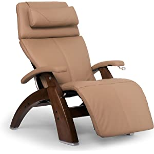 Human Touch Perfect Chair PC-420 Classic Plus Top Grain Leather Zero Gravity Recliner, Sand