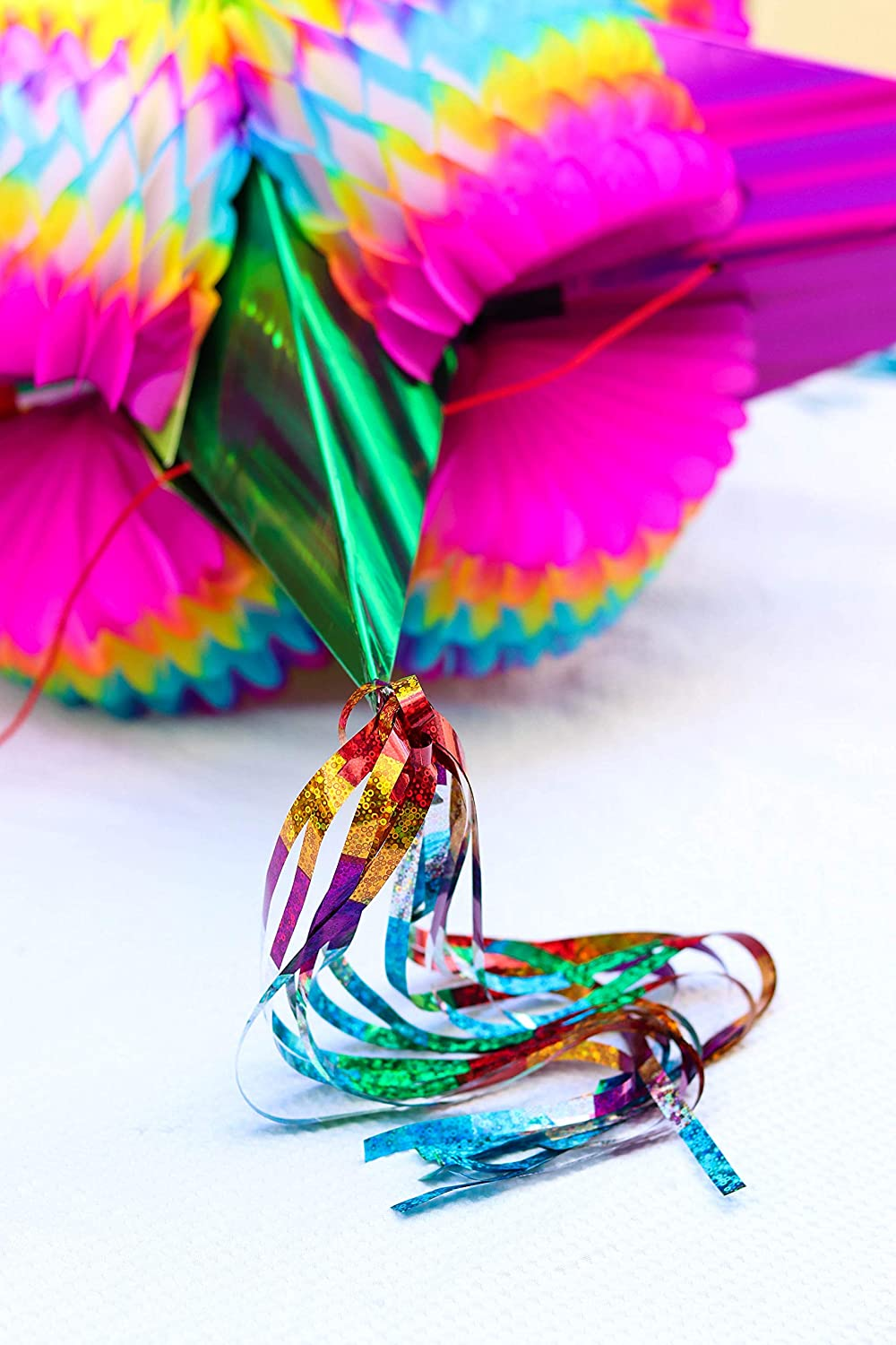 Extra Large 36 Inch Tassel to tassel. Multi Colored Ideal for Birthday Fiesta Party Supplies Decoration Mexican Traditional Cardboard Star Pinata