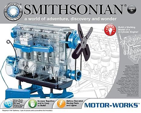 amazon com smithsonian motor works toys games rh amazon com Plastic Model Engine Kits Mini Running V8 Engine Kit