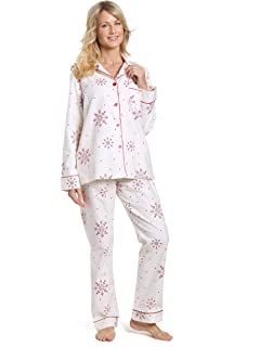Noble Mount Womens Premium 100% Cotton Flannel Pajama Sleepwear Set ... 9ed725d16