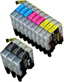 12 Pack Compatible With Brother LC-71 , LC-75 3 Black, 3 Cyan, 3 Magenta, 3 Yellow Compatible With Brother MFC-J280W, MFC-J425W, MFC-J430W, MFC-J435W, MFC-J5910DW, MFC-J625DW, MFC-J6510DW, MFC-J6710DW, MFC-J6910DW, MFC-J825DW, MFC-J835DW. Ink Cartridges for inkjet printers. LC-71BK , LC-71C , LC-71M , LC-71Y , LC-75BK , LC-75C , LC-75M , LC-75Y © Blake Printing Supply