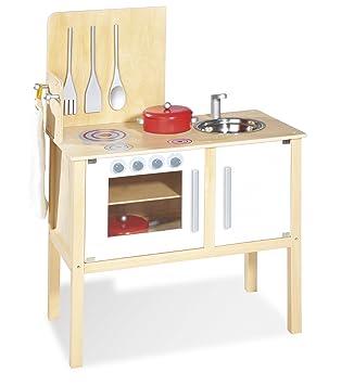 pinolino 229313 cucina in legno jette per bambini con accessori