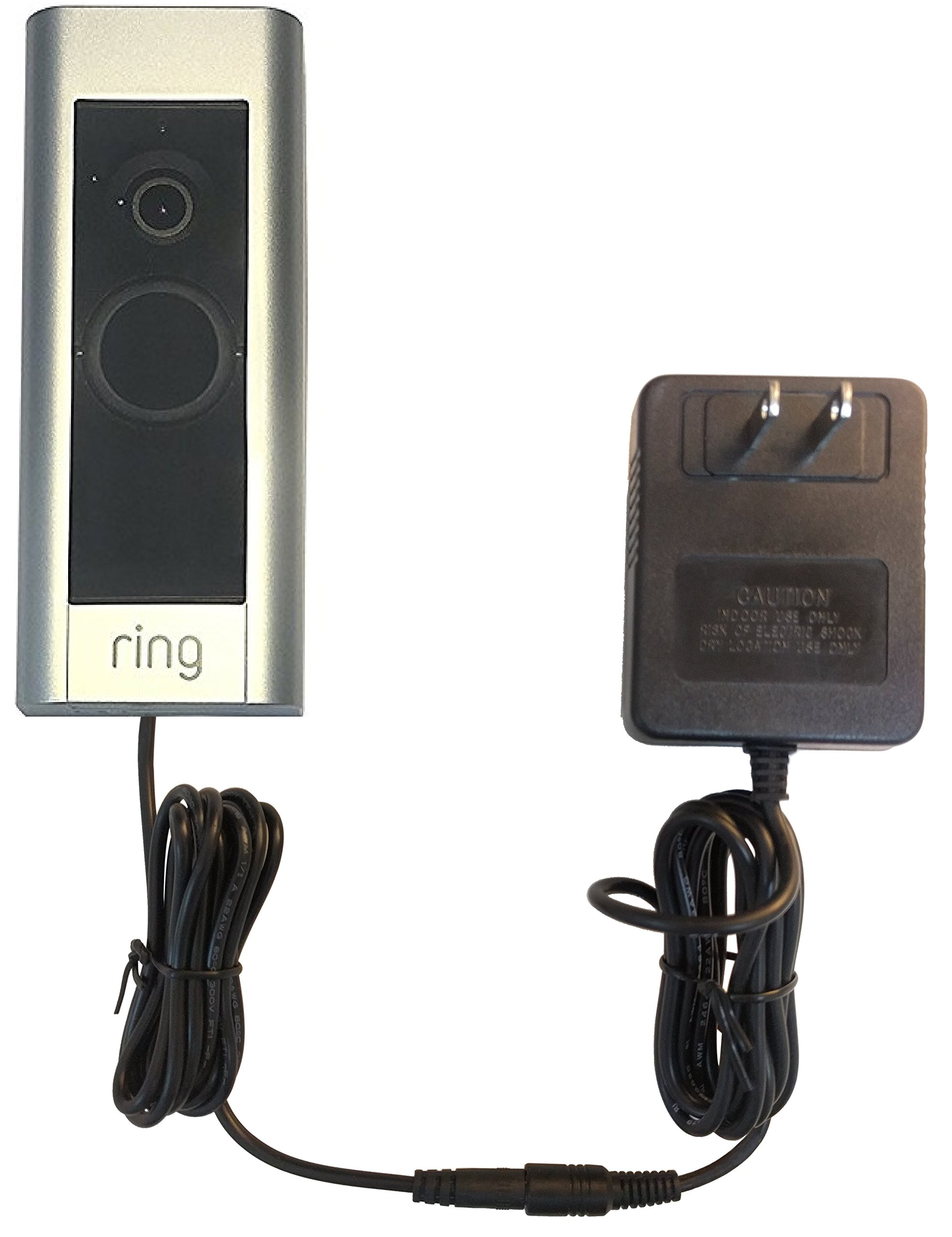 OhmKat Video Doorbell Power Supply - Compatible with Ring Video Doorbell PRO - Needs No Existing Wiring - Transformer, Adapter, Power Kit & Supply All In One