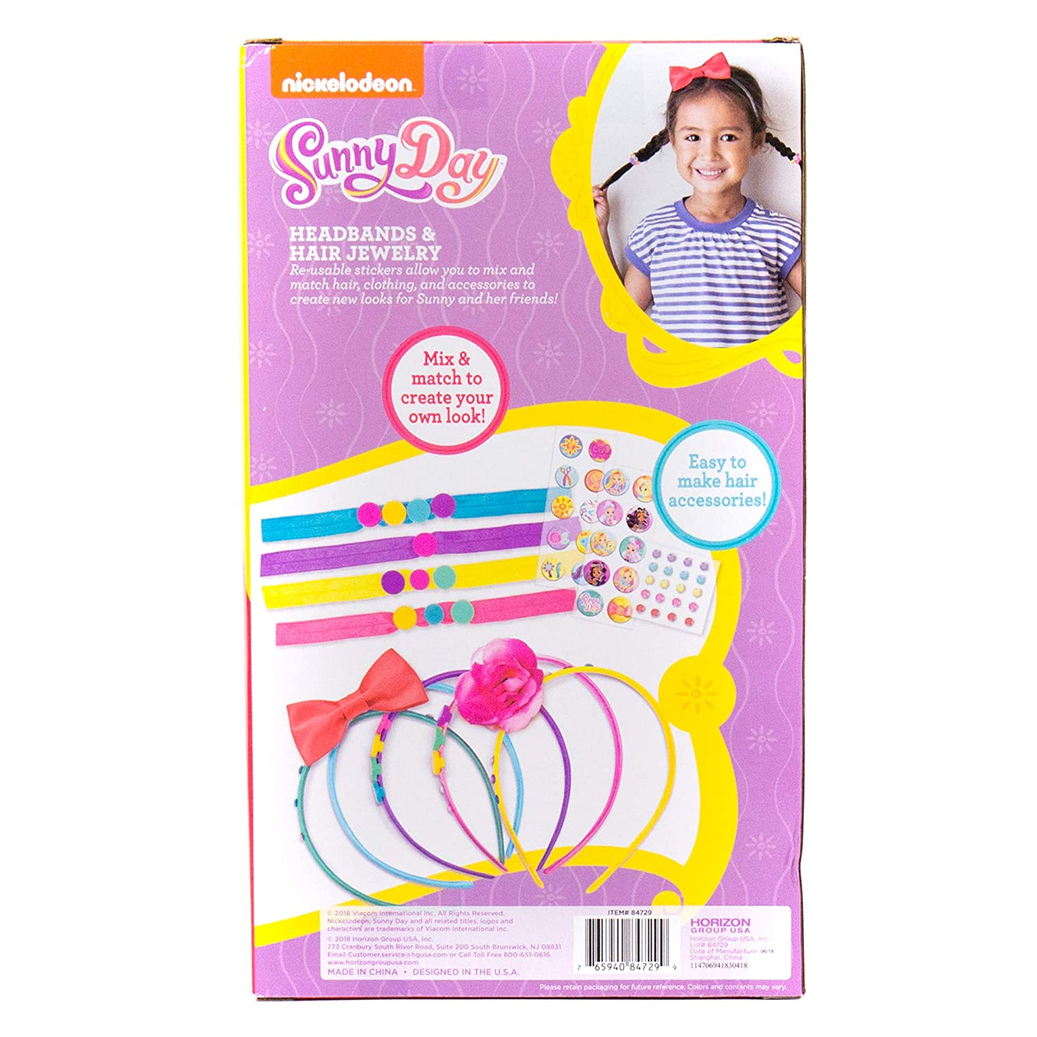 Sunny Day Create Your Own Headbands /& Hair Jewelry by Horizon Group USA Multicolored 7.65941E+11