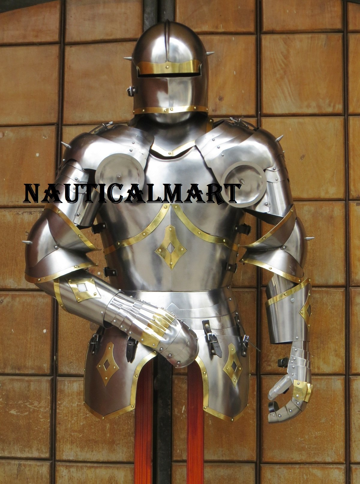 Medieval Wearable Knight Gothic Suit of Armor SCA Larp Body Armour
