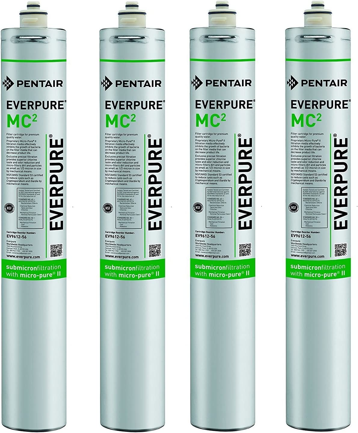 Pack of 4 Everpure EV9612-56 MC2 Filter Cartridge