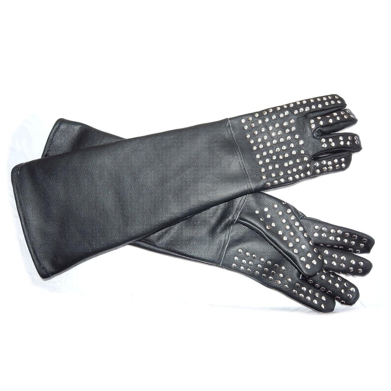 ARD CHAMPS Heavy Duty Snake Handling Gloves withステンレスStaplesと厚いブラックレザー  B073VKL99Y