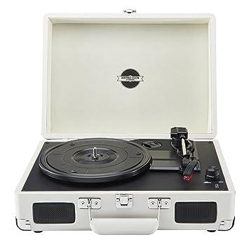 Reproductor de vinilos Zennox estilo retro, tocadiscos portátil ...