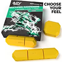 ADV Tennis Vibration Dampener | Set of 3 | Ultimate Shock Absorbers for Racket and Strings | Premium Quality, Durable, and 100% Reliable | Poly-Silicone Material Technology