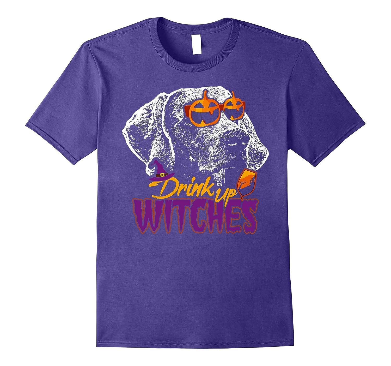 Weimaraner Drink Up Witches Funny Halloween Shirt-T-Shirt