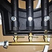 ProBache R/échaud /à gaz en fonte 3 robinets laiton