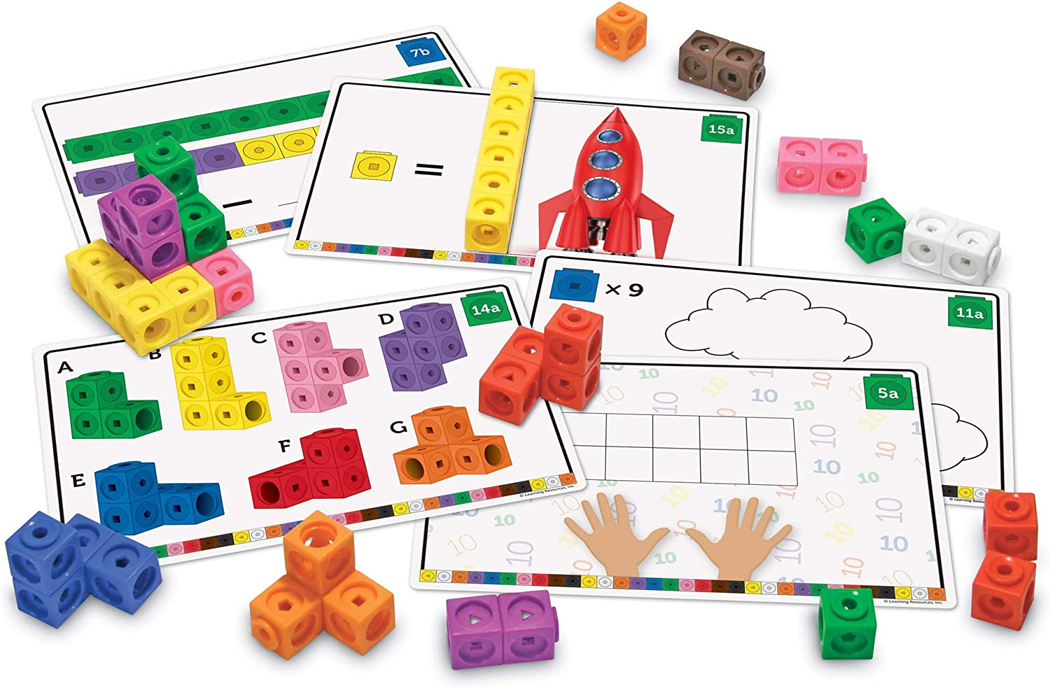 learning resources early math mathlink cube activity set math manipulatives for kindergarteners