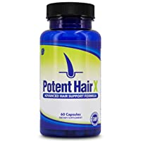 Potent Hair X: Natural DHT Blocker, Hair Growth Vitamins, Stops Hair Loss, Repairs Follicles and Promotes Hair Regrowth in Men and Women, All Hair Types, 30 Day Supply