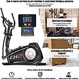 Sportstech CX2 Bicicleta elíptica con aplicación para Smartphone, generador eléctrico integrad, Bluetooth, Soporte para Tablet, Volante de inercia de 27 kg