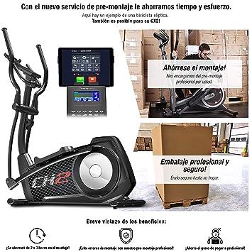 Sportstech CX2 Bicicleta elíptica con aplicación para Smartphone, generador eléctrico Integrado, Bluetooth, Soporte para Tablet, Volante de inercia de 27 ...