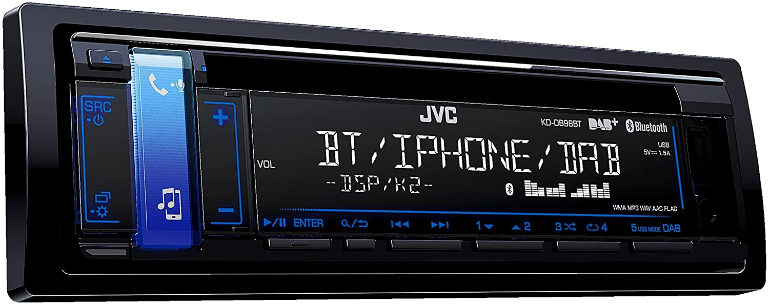 JVC KD-DB98BT DAB CD MP3 AUX USB BLUETOOTH CAR STEREO IPOD IPHONE DAB AERIAL