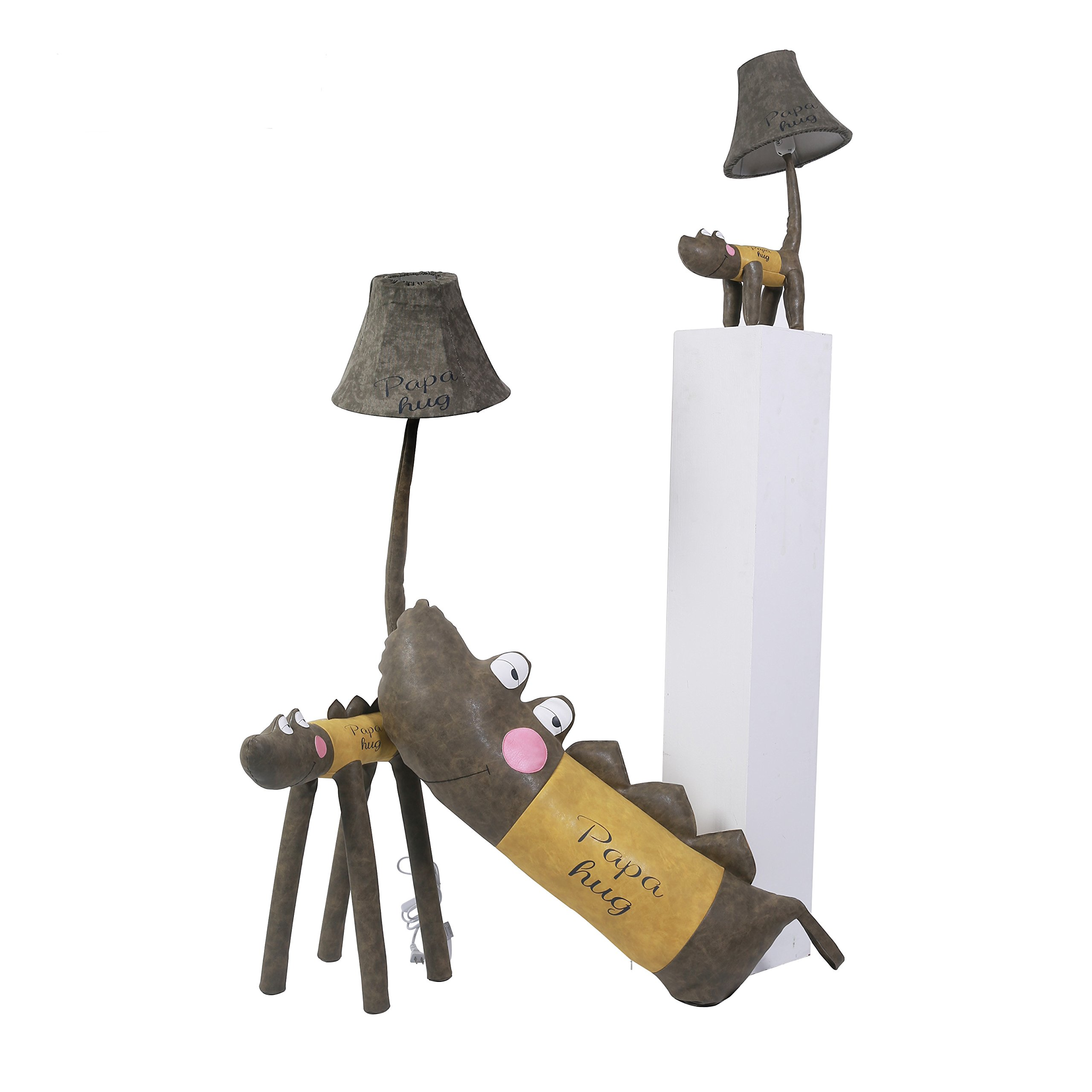 Kids Desk Lamp LED Cute Crocodile LED Floor Lamp Funny Animal children bedroom Table lamp Two Sizes Option (125cm) by Balie Space (Image #2)