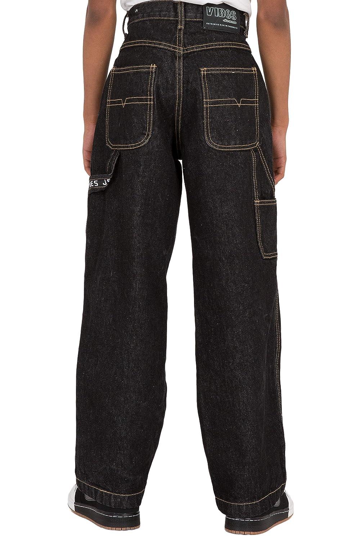 Vibes Boys 14.5 oz Denim Carpenter Jeans Relax Fit Dark Indigo Wash