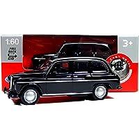 Welly Modelo de Taxi negro de Londres fabricado con piezas fundidas de metal y plástico con acción Pull Back & Go Action