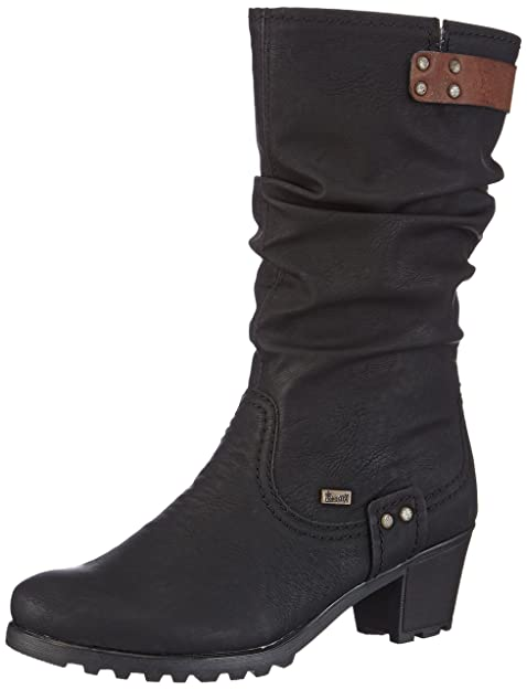 Rieker Y8081-01 Y8081-01 - Botines fashion para mujer, Negro, 38