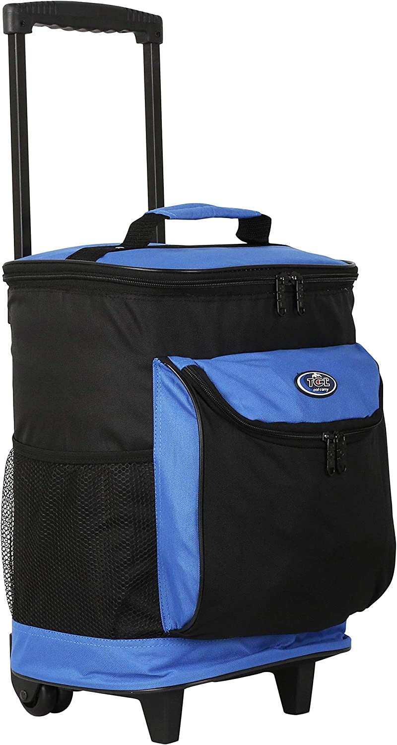 """16"""" Cool Carry 2-Section Rolling Cooler with Thermal Insulation Color Option"""