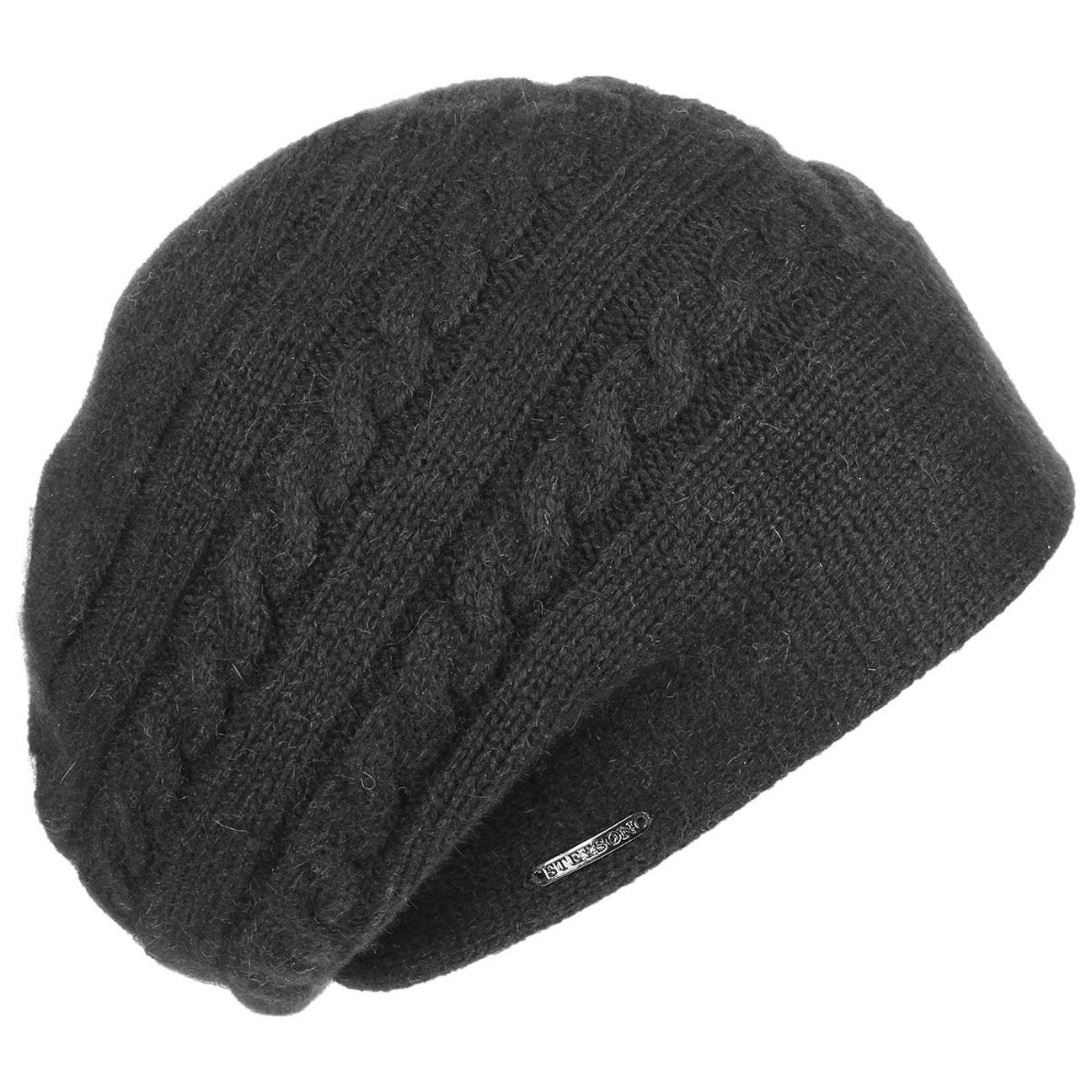 Stetson Itasca Alpaca Wool Knit Hat Women Black One Size by Stetson