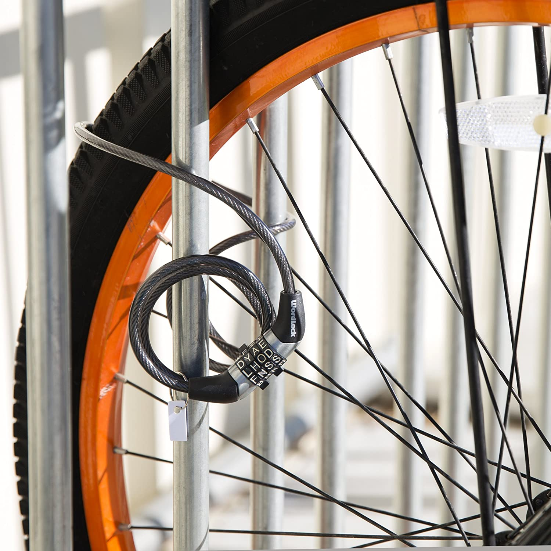 4-Feet Wordlock Non-Resettable Combination Cable Lock