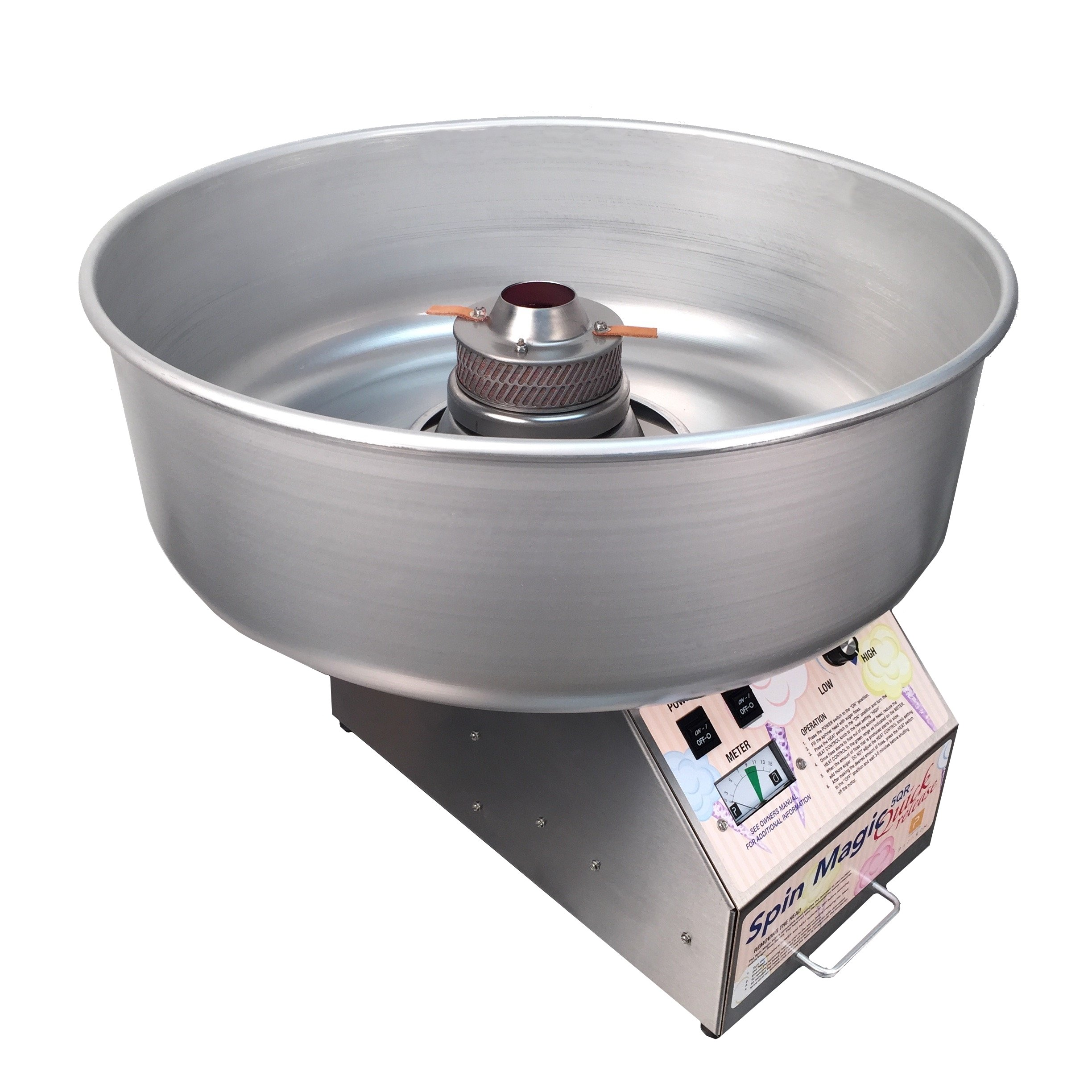 Paragon Spin Magic 5 Quick Release Head Cotton Candy Machine with Metal Bowl for Professional Concessionaires Requiring Commercial Quality & Construction by Paragon - Manufactured Fun