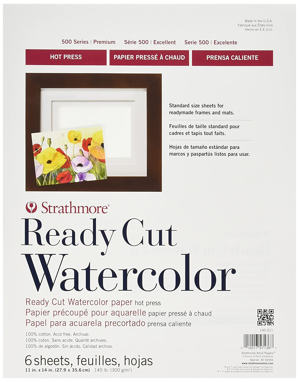 Amazon.com: Strathmore 140-311 500 Series Ready Cut Watercolor Paper ...
