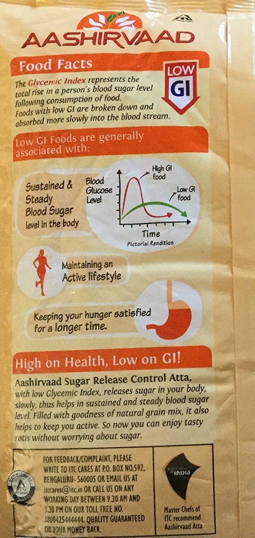 Aashirvaad Sugar Release Control Low GI Natural Grain Mix Atta - 1 kg. (1,000 Grams)