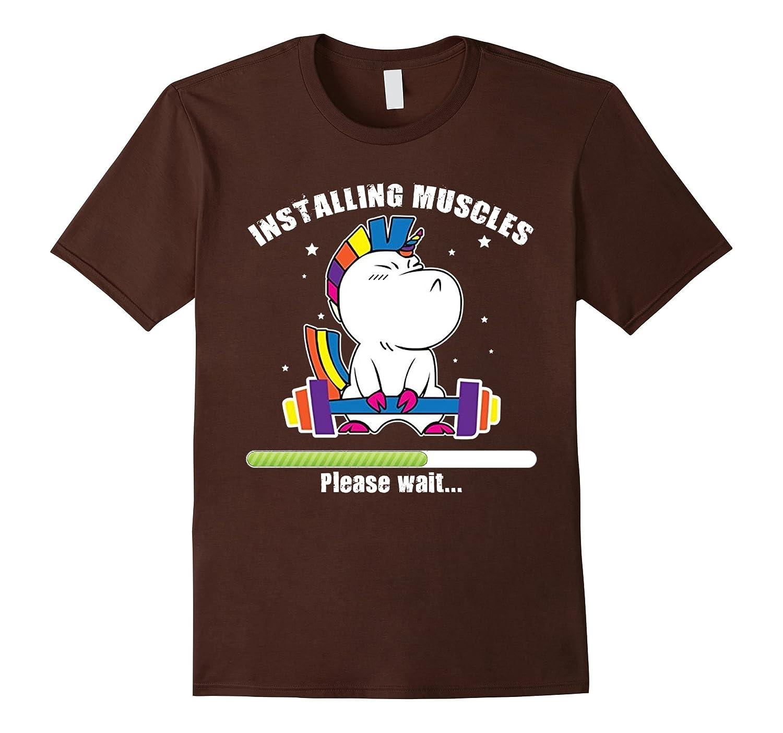 Unicorn Installing Muscles Fitness T Shirt-Awarplus