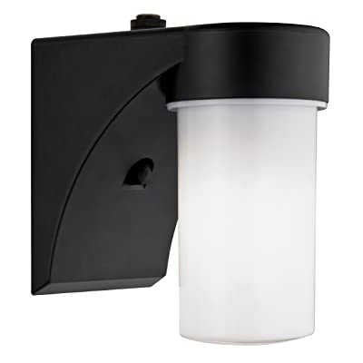 Lithonia Lighting OSC 13F 120 P LP BL M6 Outdoor Cylinder Wall Light with Dusk to Dawn Photocell, Black - Wall Porch Lights - .com