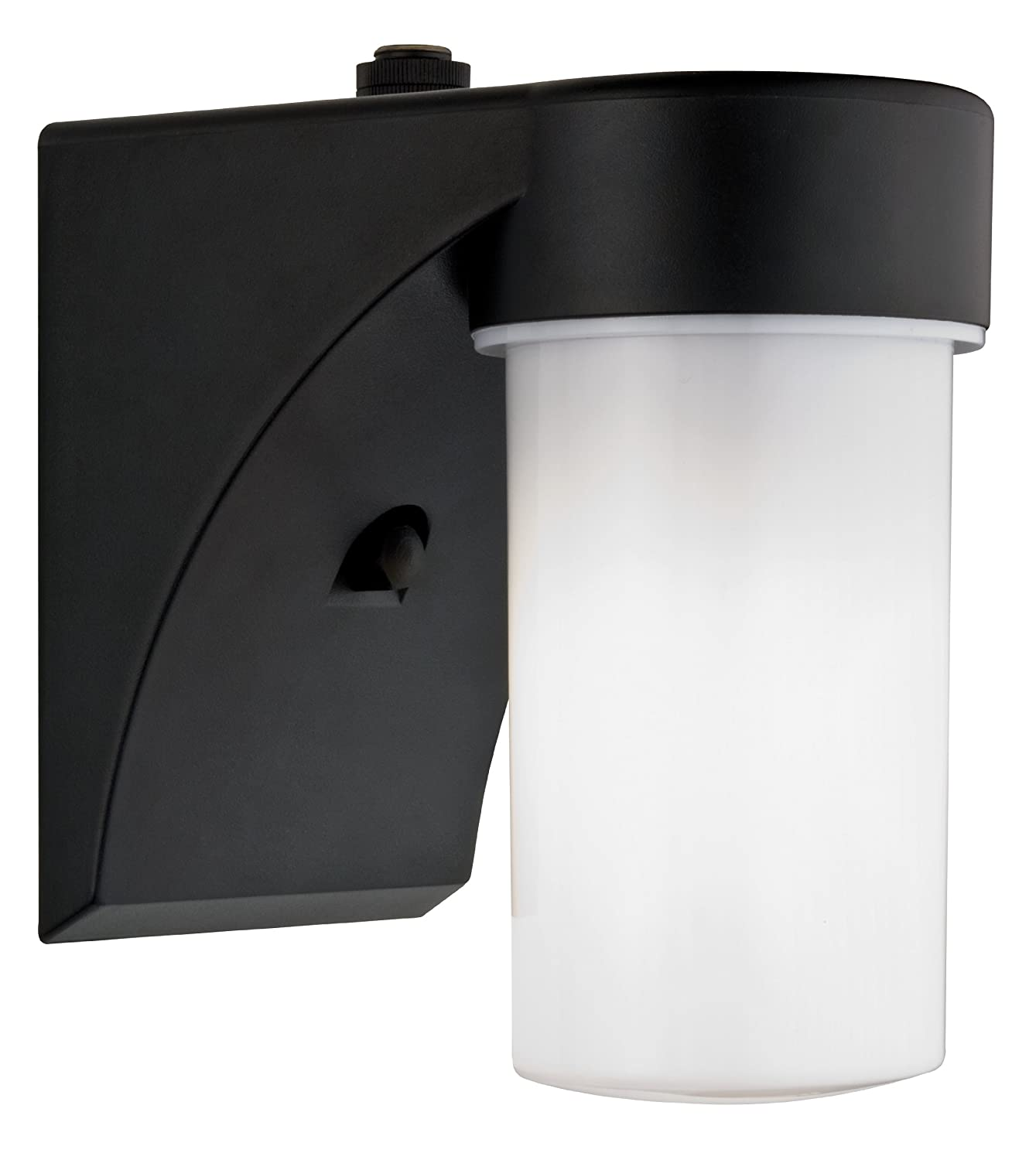 Lithonia Lighting OSC 13F 120 P LP BL M6 Outdoor Cylinder Wall Light with Dusk to Dawn Photocell Black - Wall Porch Lights - Amazon.com  sc 1 st  Amazon.com : outdoor wall light photocell - www.canuckmediamonitor.org